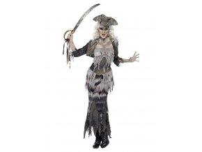 Dámský kostým Duch pirátky Deluxe