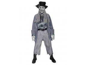 Kostým zombie Pirát deluxe