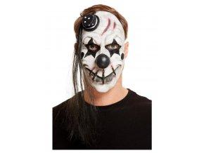 Latexová maska strašidelný klaun