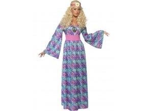 Dámský kostým Hippies dlouhé šaty (modré)