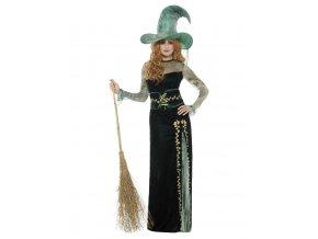 Dámský kostým smaragdová čarodějka deluxe