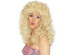 Dámská paruka 80.léta blond kudrnatá