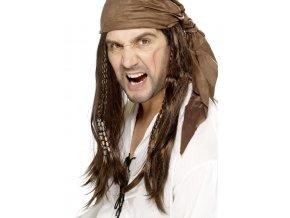 Pirátský šátek s vlasy