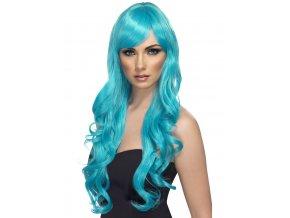 Dámská paruka Aqua modrá