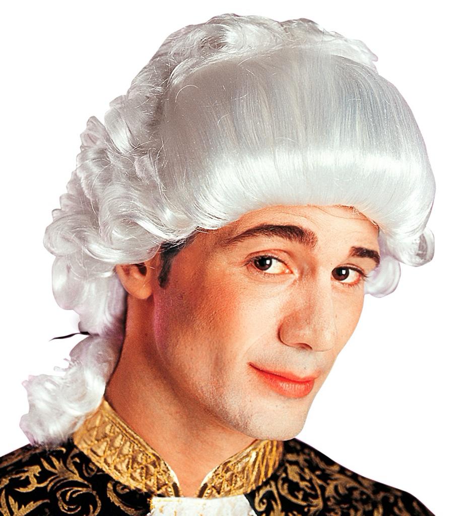 Bílá paruka Baroko kavalír
