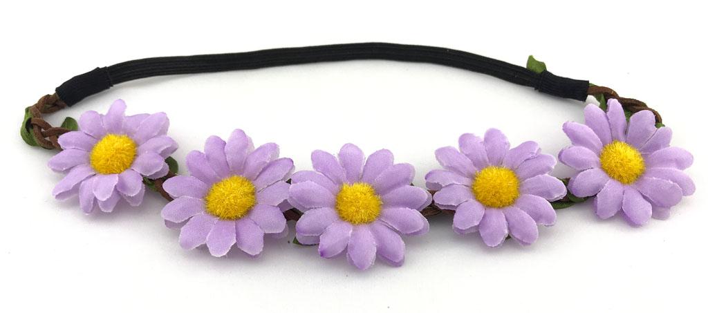 Květinová čelenka fialové květy