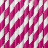 Papírová brčka růžová, 10ks