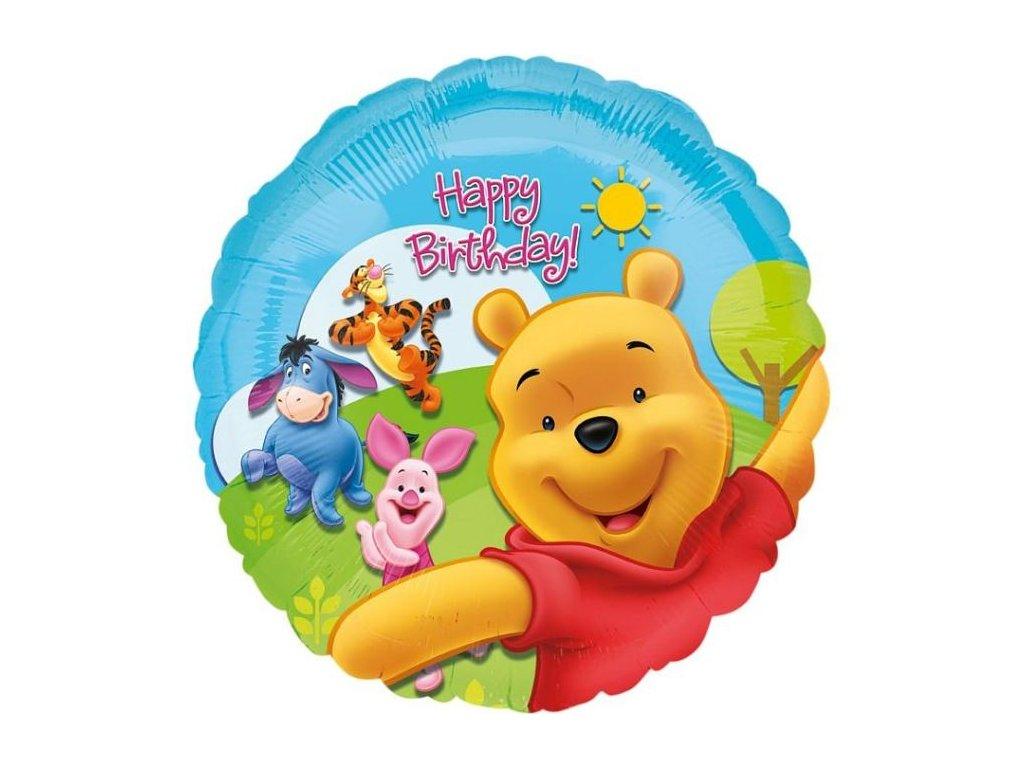Balón foliový 43 cm - Medvídek Pú - Pooh