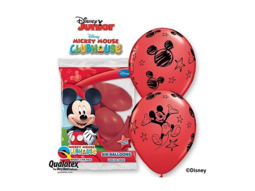 Balónky myšák - Mickey Mouse 30 cm - 6 ks