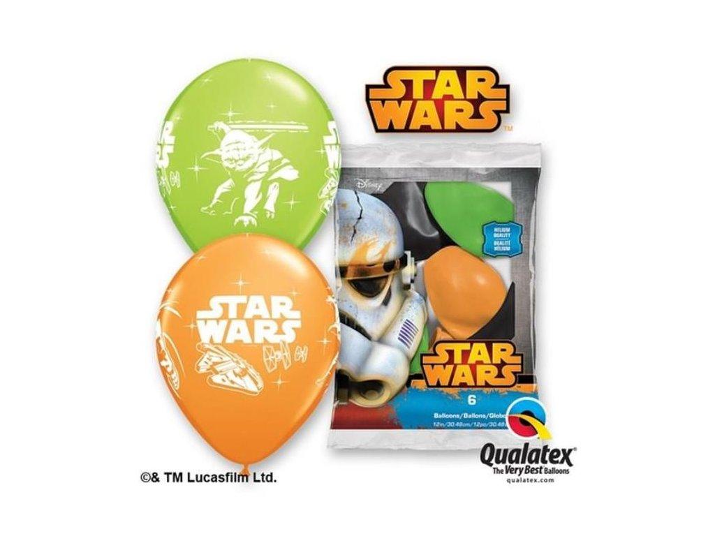 Balónky Star Wars - Hvězdné války - 30 cm - MIX BAREV - 6 ks