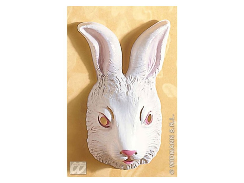 Maska dětská plast Zajíc