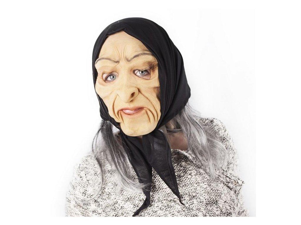 Maska čarodějnice - HALLOWEEN - 22 x 26 x 60 cm