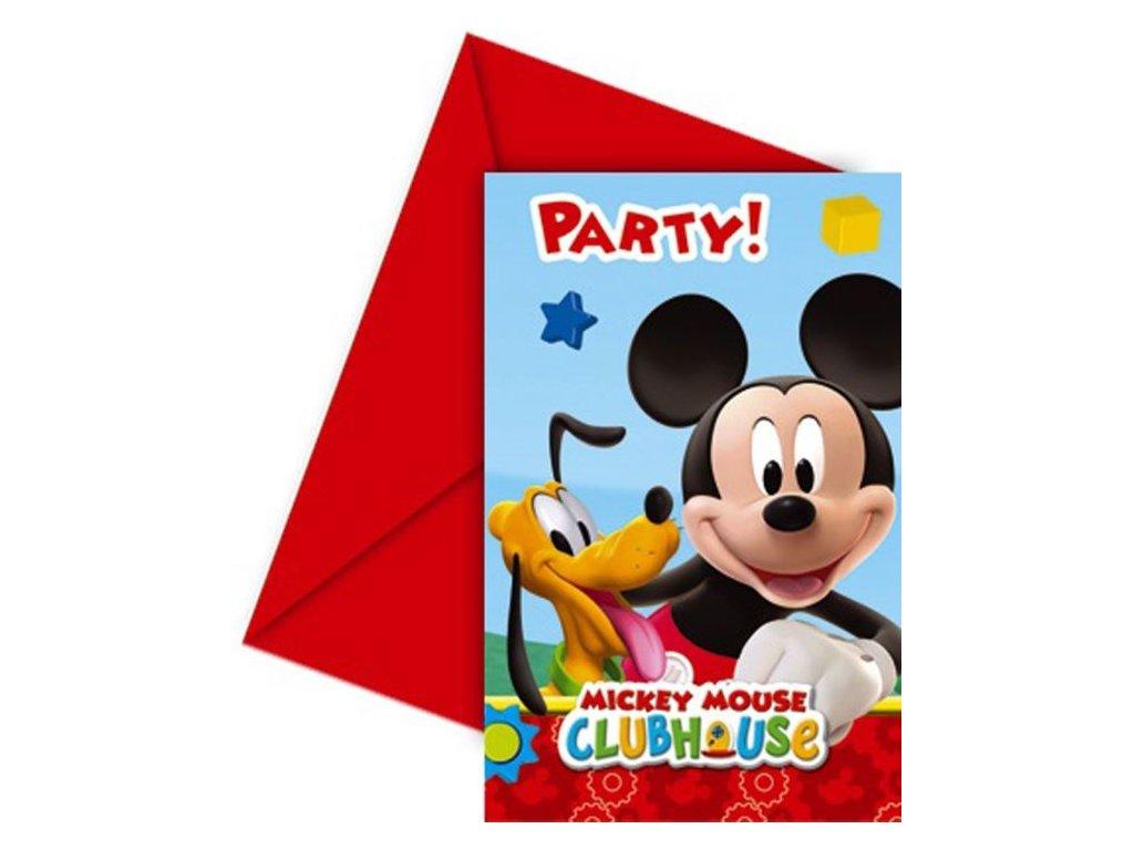 Pozvánky myšák MICKEY MOUSE - 6 ks