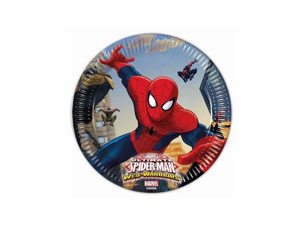 """Papírový talíř """"Ultimate SPIDERMAN"""", 20 cm, 8 ks"""