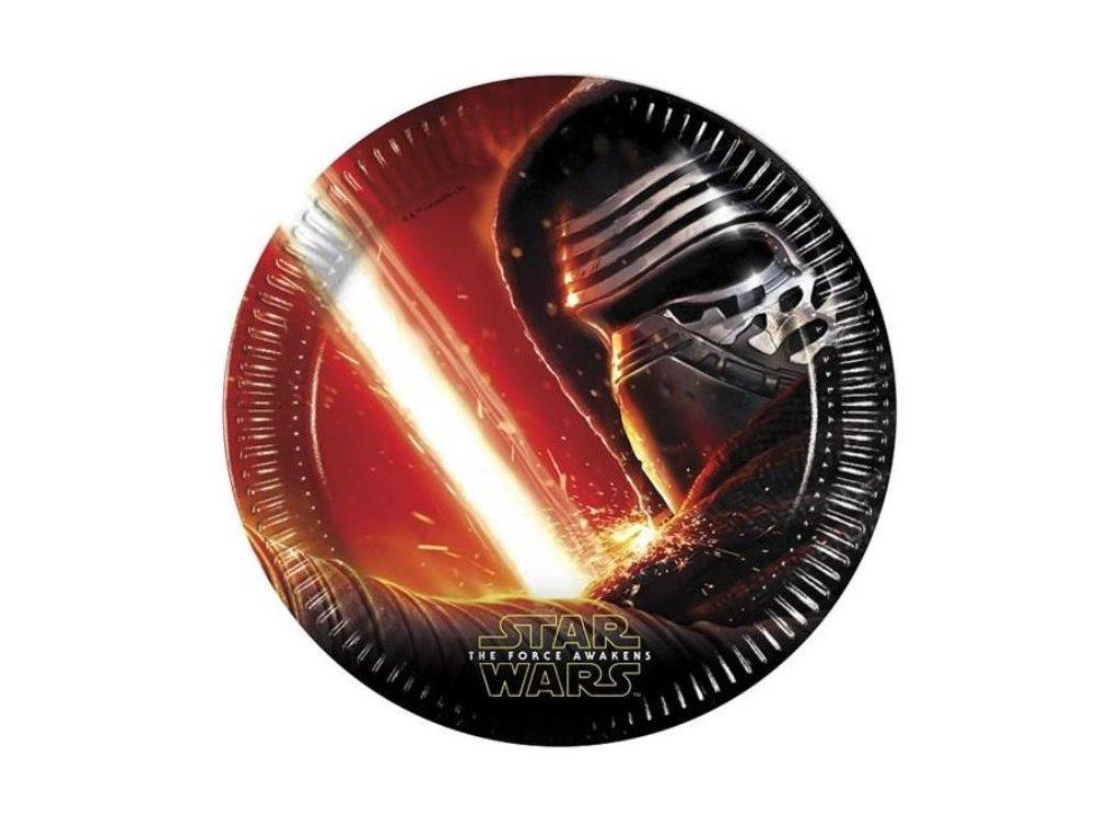 Talíře papírové STAR WARS - Hvězdné Války - The Force Awaknes - 23 cm - 8 ks