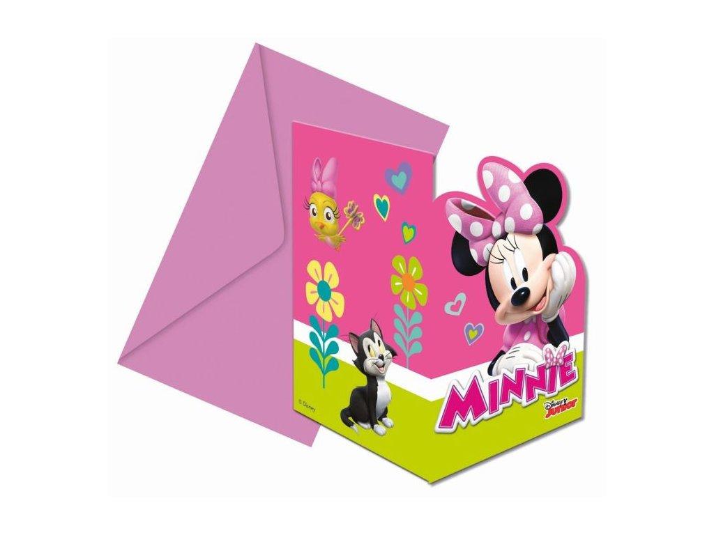 """Pozvánky myška Minnie """"Minnie Happy Helpers"""" , 6 ks"""
