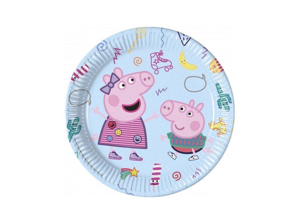 """Papírové talíře prasátko Peppa """"Peppa Pig"""", 23 cm, 8 ks"""