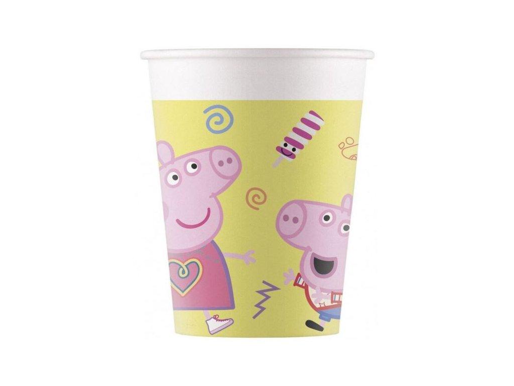 """Papírové kelímky prasátko Peppa """"Peppa Pig"""", 200 ml, 8 ks"""