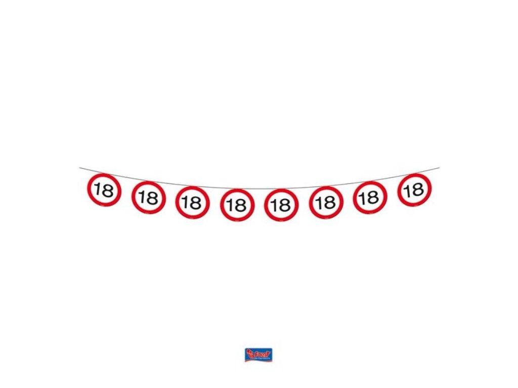 Girlanda narozeniny dopravní značka 18, 12m
