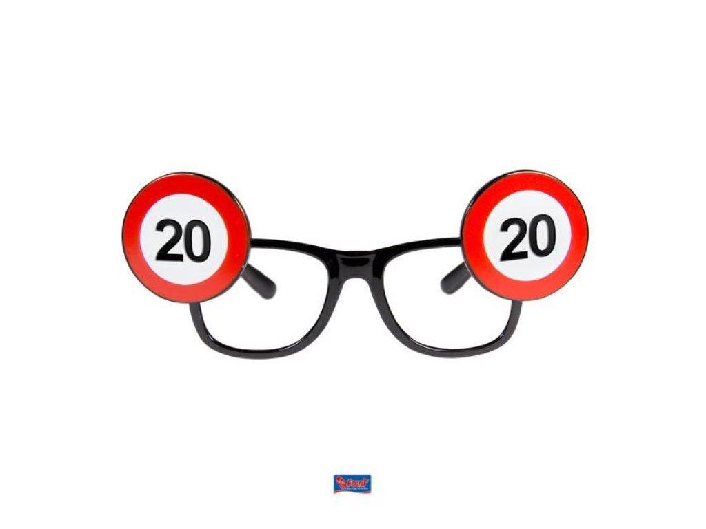 Párty brýle narozeniny dopravní značka - 20