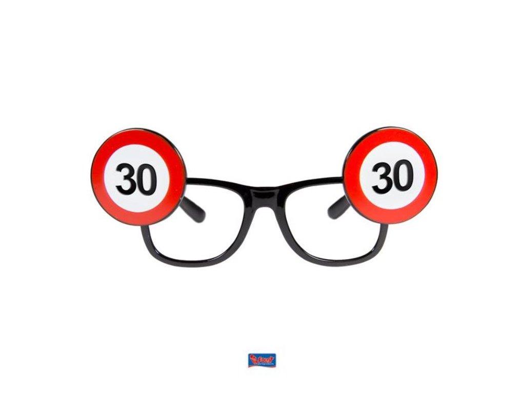 Párty brýle narozeniny dopravní značka - 30