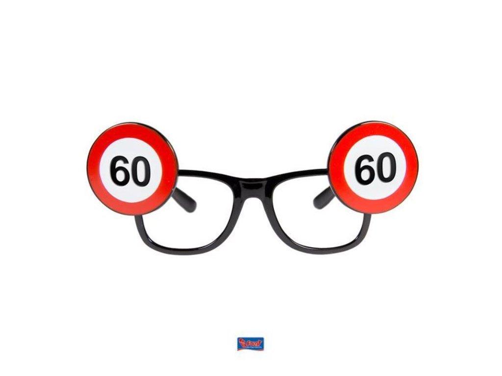 Párty brýle narozeniny dopravní značka - 60