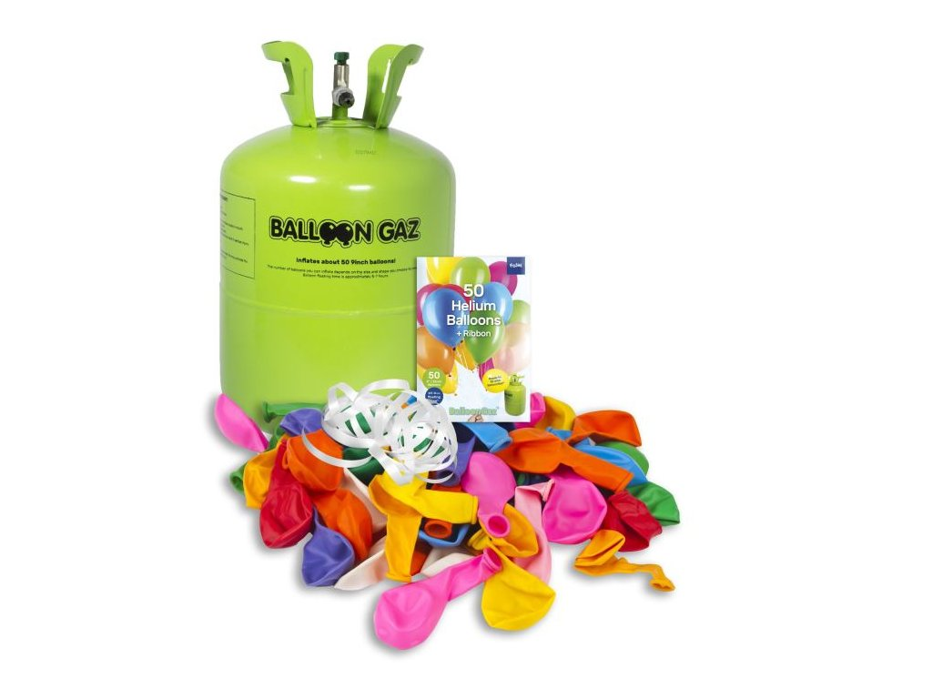HELIUM DO 50 BALONKŮ - BALLOONGAZ JEDN. NÁDOBA 0,42m3 + balónky
