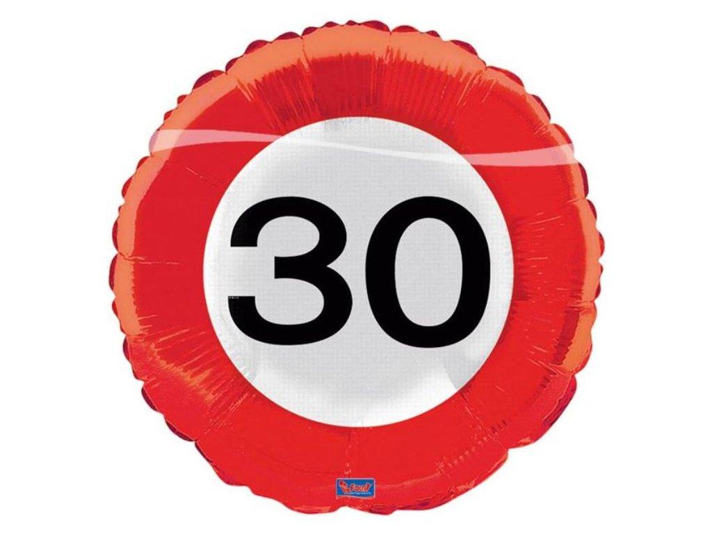 Balón foliový dopravní značka 30 , 43cm