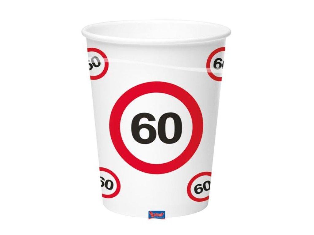 Kelímky dopravní značka 60, 350ml 8ks/bal.
