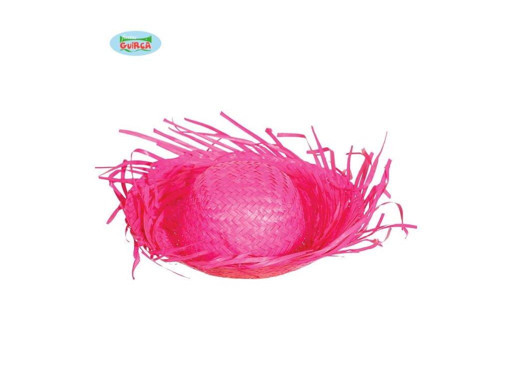Slaměný klobouk - růžový