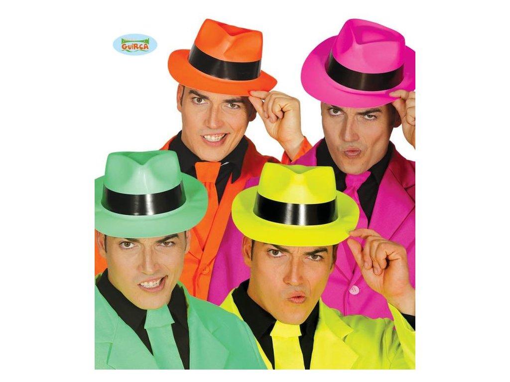 Plastový klobouk Gangster - 4 druhy