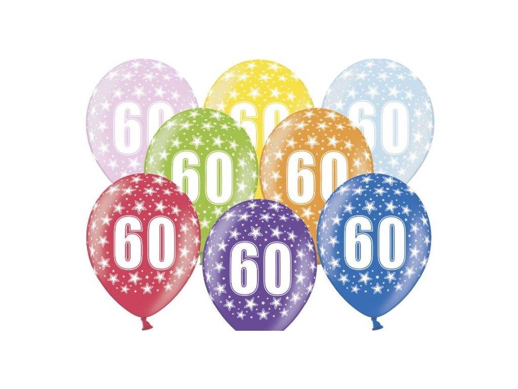 Silné Balónky 30cm metalické mix - narozeniny - Birthday No.60