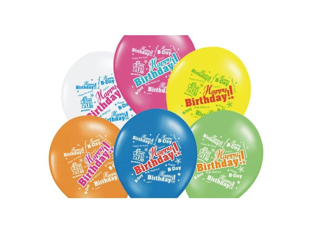 Balónky 30cm - mix HAPPY Birthday - narozeniny - ks