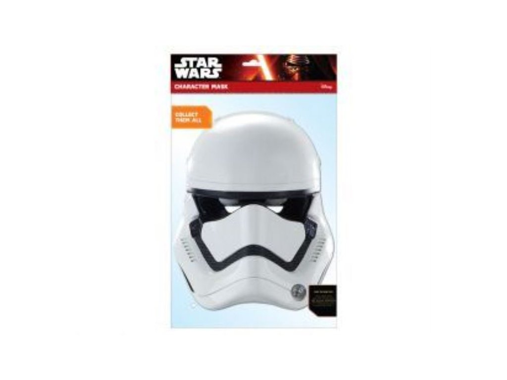 Maska celebrit - Star Wars - Hvězdné války - Stormtrooper