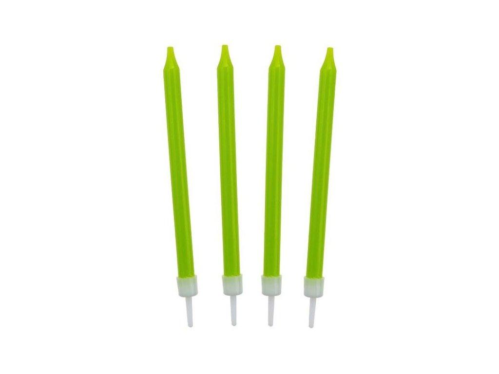 Narozeninové svíčky 8,6 cm 10 ks zelené