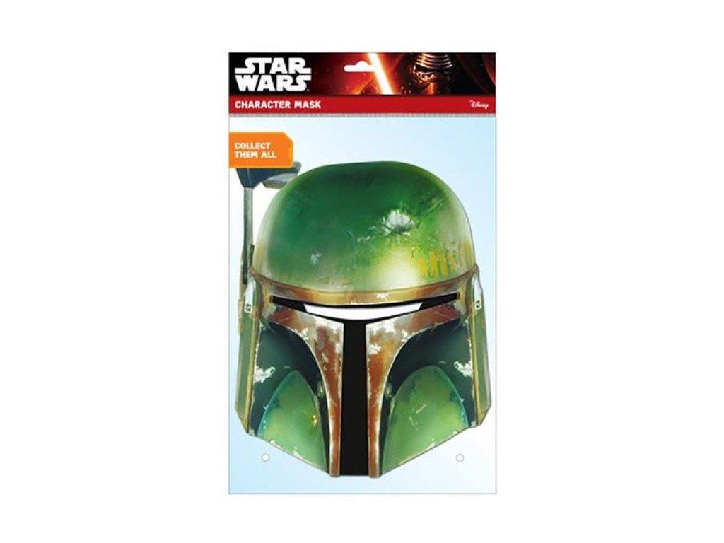 Maska celebrit - Star Wars - Hvězdné války - Boba Fett