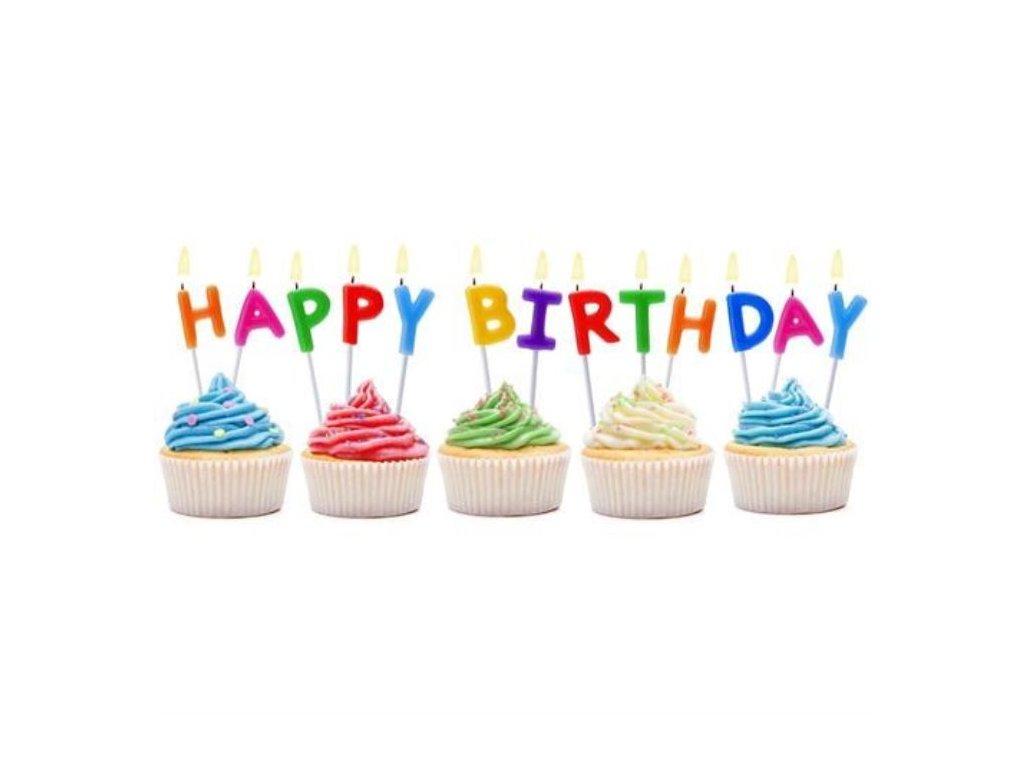 Svíčky Happy Birthday - narozeniny - 13 ks - 7,5 cm