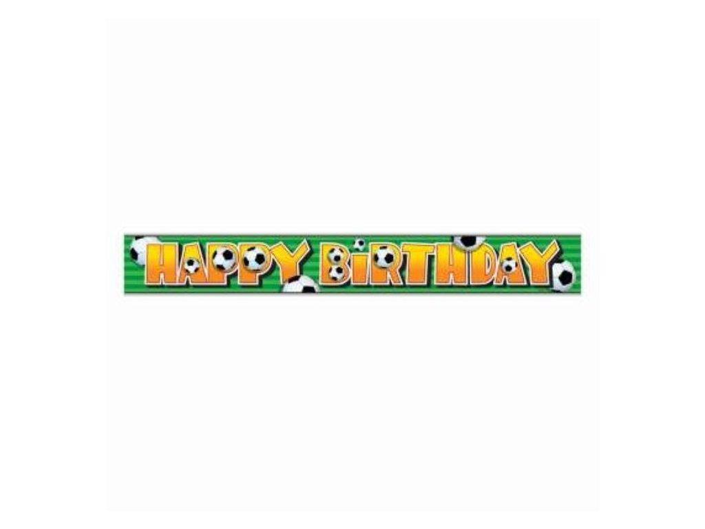 Banner - Girlanda narozeniny - Happy Birthday - FOTBAL - 365 cm