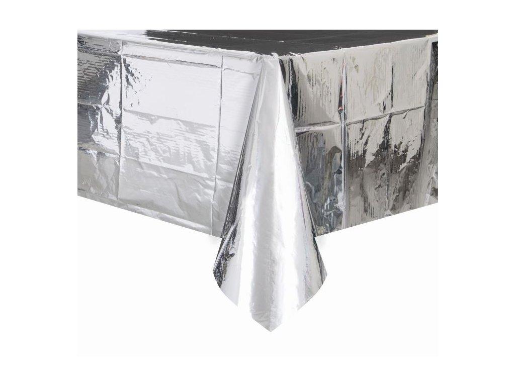 UBRUS FÓLIOVÝ stříbrný 54x108 cm