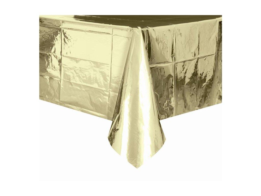 UBRUS FÓLIOVÝ zlatý 54x108 cm