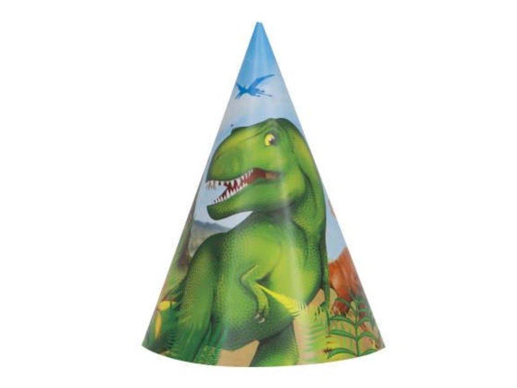 Party kloboučky DINOSAURUS 8 ks