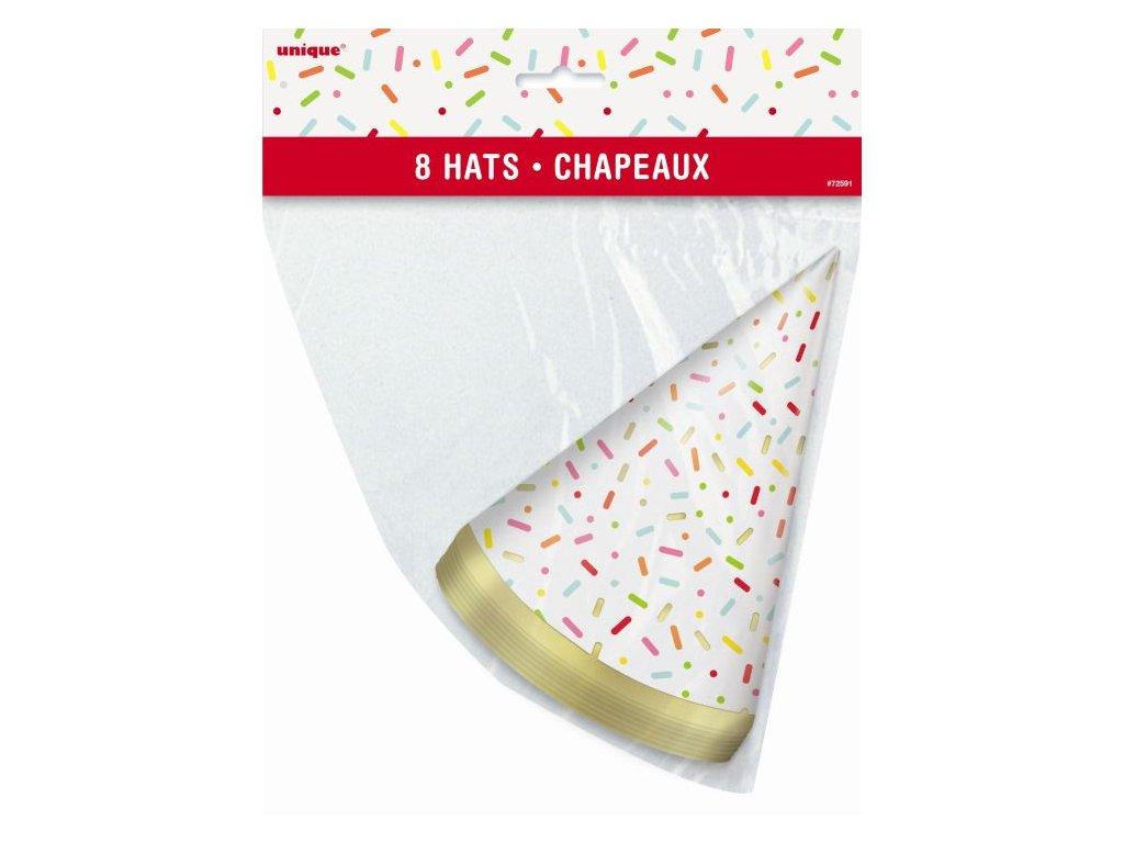 Párty kloboučky párty DONUT - 8ks