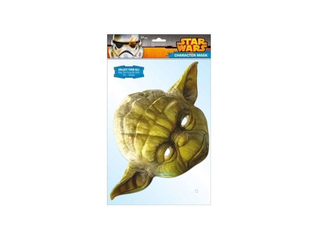 Maska celebrit - Star Wars - Hvězdné války - Yoda