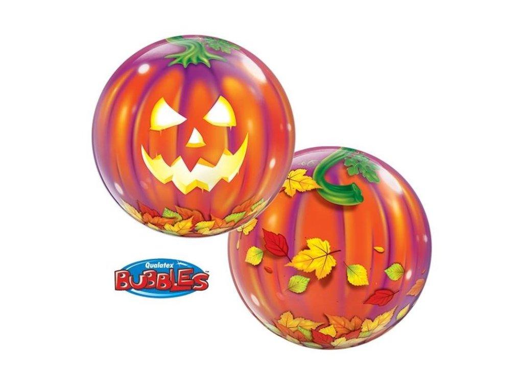 Balónek dýně - pumpkin - Jack O' Lantern - Halloween 56cm