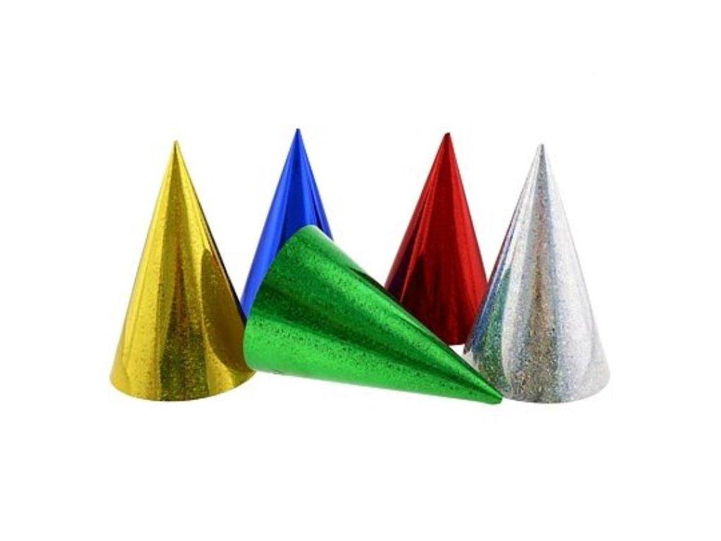 Kloboučky - holografické mix barev 3 ks