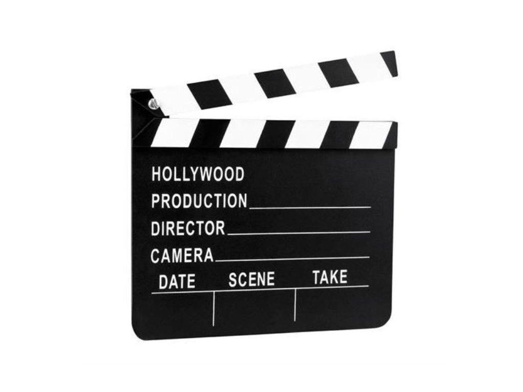 Dekorace - filmová klapka - Hollywood -18x20 cm