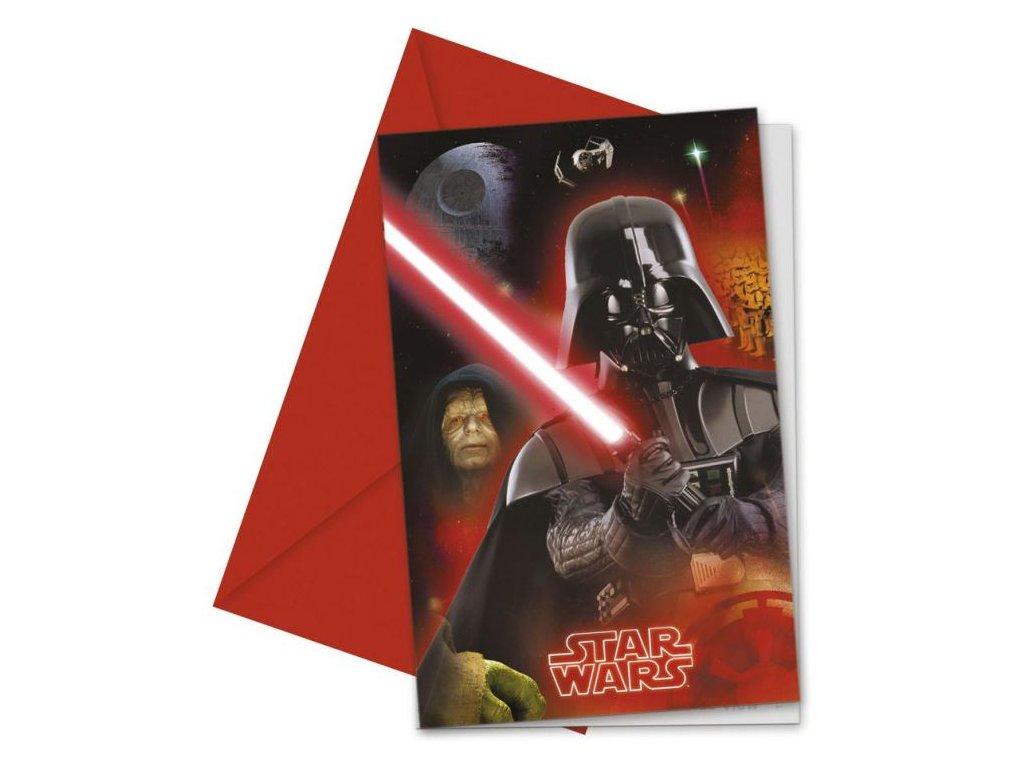 Pozvánky STAR WARS - Hvězdné války - 6 ks