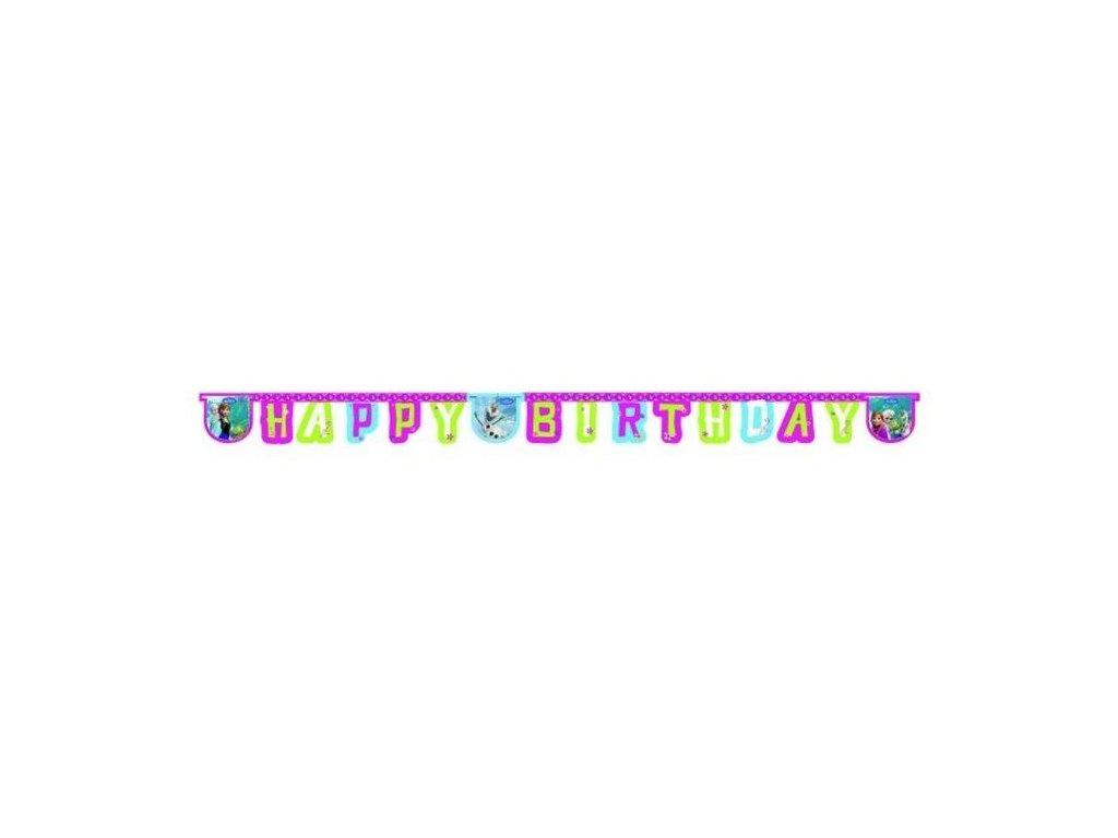 Banner - girlanda Frozen - Ledové království HAPPY Birthday - narozeniny - 215 cm