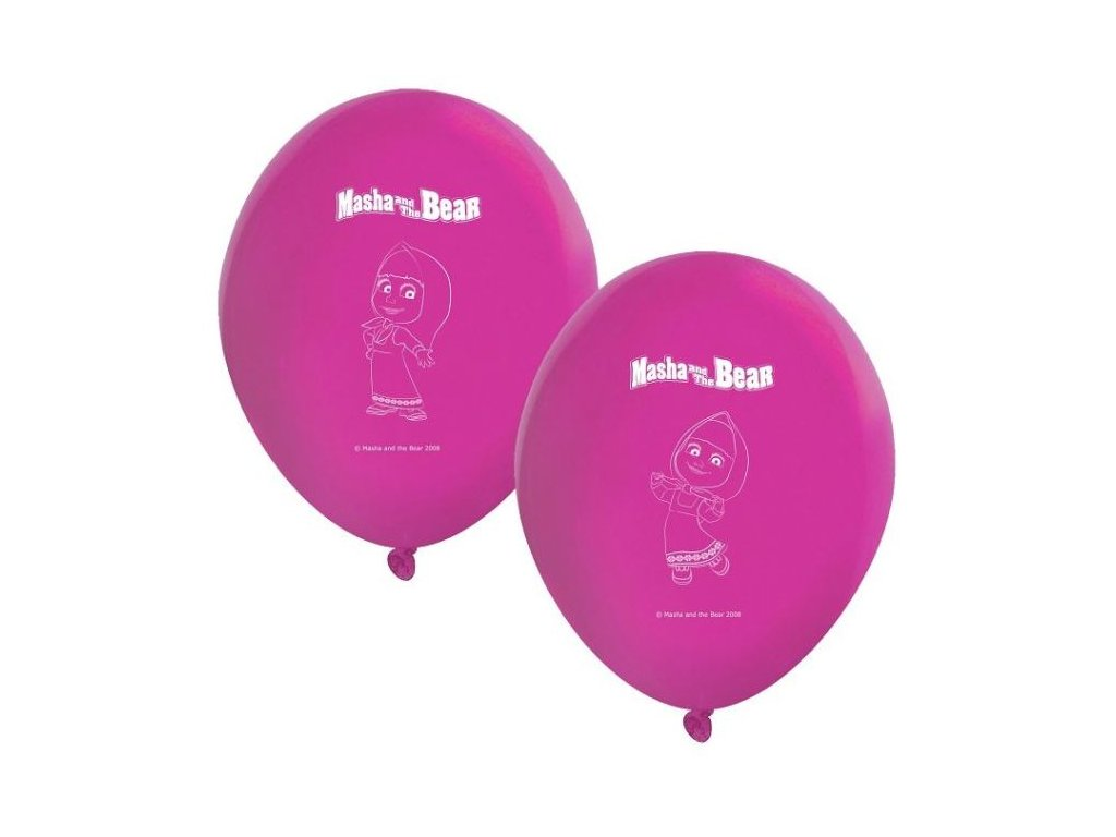 Balónky MÁŠA A MEDVĚD, 8 ks -28 cm