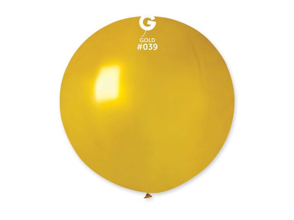 Balón latex metalický 80 cm - zlatý 1 ks